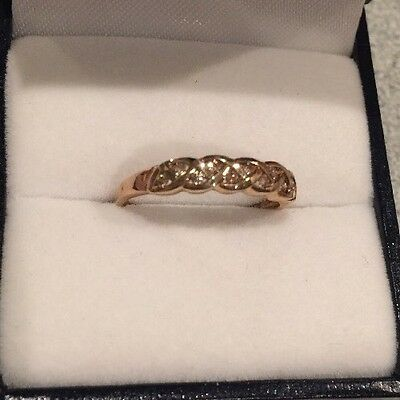 Solid Gold (9ct) Diamond Eternity Ring (size M1/2) RRP $199