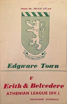 1964 - Edgeware Town v Erith & Belvedere - Athenian League