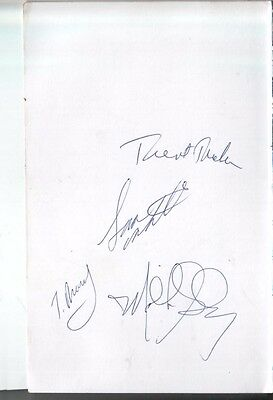 1999 Minnesota Timberwolves Autographed Page by 4 w/ Malik Sealy D.00
