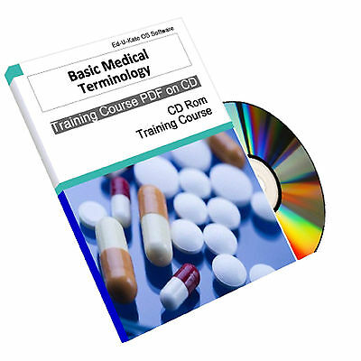 Basic Medical Terminology Terms Dictionary Medicine Words Course Manual CD Book