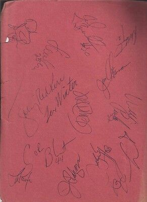 Johnny Kerr & Steve Kerr Autographed Page by 28 1993 Chicago Bulls