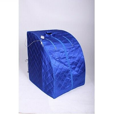 Portable ETL Infrared Sauna w/ Folding Chair and Foot Pad, Blue Color
