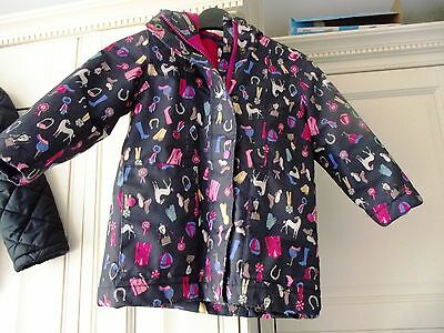 Gorgeous Girls Joules Fleece Lined Coat - Age 4 Years - Excellent Condition