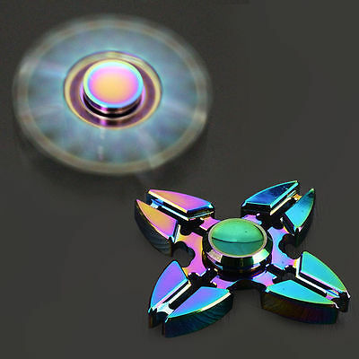 UK Rainbow Bauhinia Flower Fidget Spinner Hand Finger Gyro EDC Focus Toys Steady