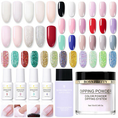BORN PRETTY  Black Nail Acrylic Dipping Powder System Liquid NO UV Kit