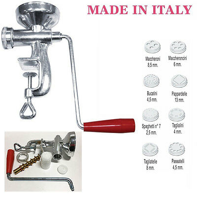 Macchina Torchio Torchietto Per Pasta Fresca Made In Italy 8 Trafile (28222)