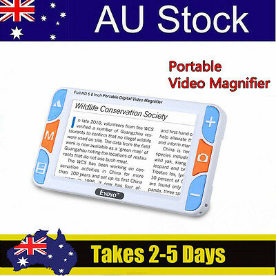 """5"""" 3X-48X Video Electronic Visual Digital Magnifier Reading Aid For Low Vision"""