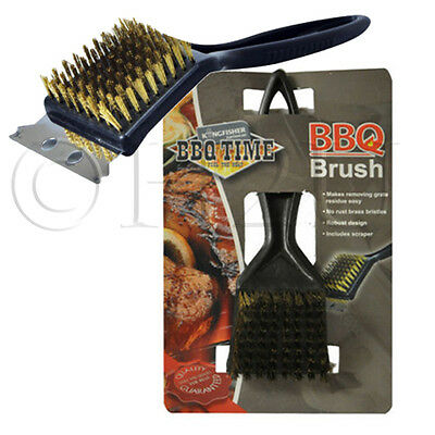Barbecue Bbq Grill Metal Wire Cleaning Brush Scraper Remover Tool Bristle Brass