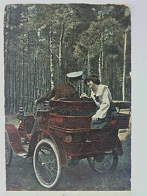 Postcard-Vintage Vehicles.a Romantic Meeting.1911.holland