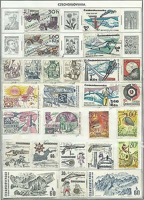Czechoslovakia - 88 stamps mixed - Years 1956 to 1992