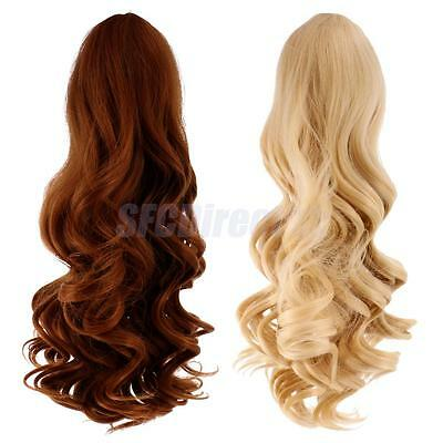 2 Wavy Curly Hair Wig Heat Safe for 18'' American Girl Doll DIY Making #8+#9
