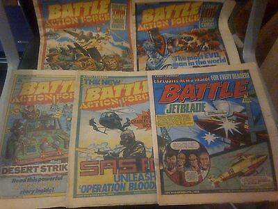 5 Battle Action Force Comics