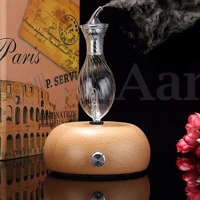 Wood Glass Aroma Diffuser Nebulizing Pure Essential Oil Fragrance Air Humidifier