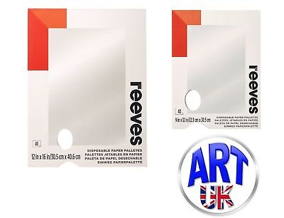 Reeves Artists Tear-Off Disposable Palette for Oil/Acrylic colour paint tubes
