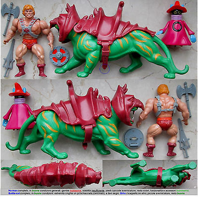 ******SET HE-MAN & BATTLE-CAT e ORKO_MASTERS OF THE UNIVERSE_MOTU_SKELETOR_B-