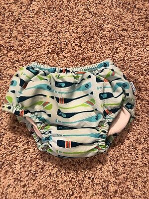 CUTE I PLAY Baby Boy Swim Diaper, Blue UPF 50, Size Large (12-18 Months), EUC