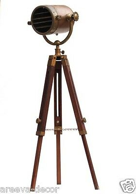Wooden Nautical Antique Finish Spot light Tripod Lighting Floor Lamp Lighting