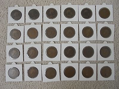 1897-1967 Massive Lot, Collection Of Vintage Old & Rare, English Pennies!