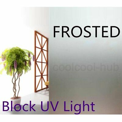 90cm x 4m Home Decorative Privacy Frosted Frosting Removable Window Glass Film