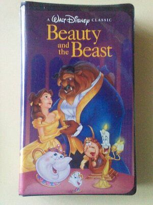Vhs  Mega Find ( Beauty And The Beast ) 1992 Black Diamond In Black Clam Sealed