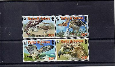 TURKS & CAICOS 2007 WORLD WILDLIFE FUND SG 1870 to 1873 MNH - BIRDS