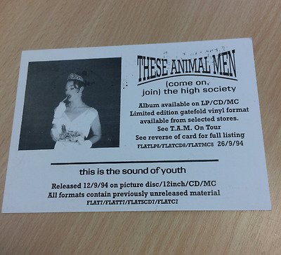 THESE ANIMAL MEN - (Come on, Join) The High Society (1994) - PROMO TOUR CARD