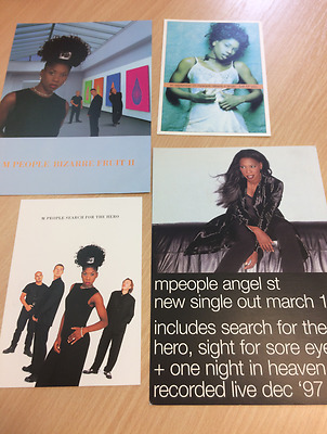 M People / Heather Small - Search For A Hero + - 4 Promo Postcards  Dj Free P+P