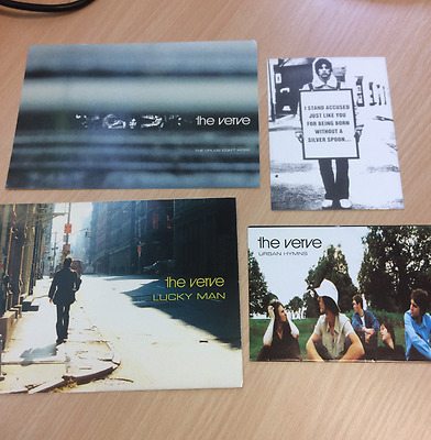 The Verve - Lucky Man / Drugs Don't Work / Urban Hymns Promo Postcards Free P+P