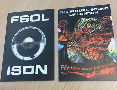 FUTURE SOUND OF LONDON (FSOL) - ISDN / Far-out 1995 Promo Postcards FREE P+P