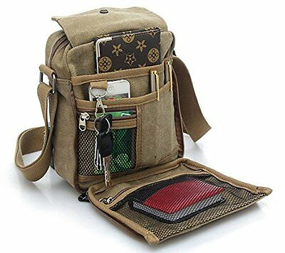 Men's Military Canvas Travel Hiking Satchel School Casual Shoulder Messenger Bag