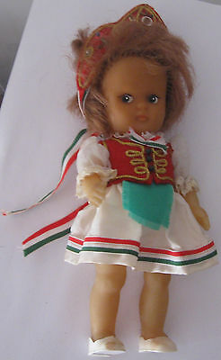 A doll in a Hungarian suit. 1960.   Free shipping.