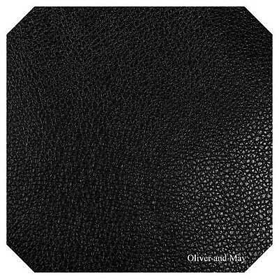 Black Leatherette Fabric A4 A5 0.7mm Black Faux Leather Fabric Aussie Seller