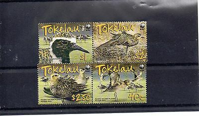 TOKELAU ISLANDS 2007 WORLD WILDLIFE FUND SG 382 to 385 MNH - BIRDS