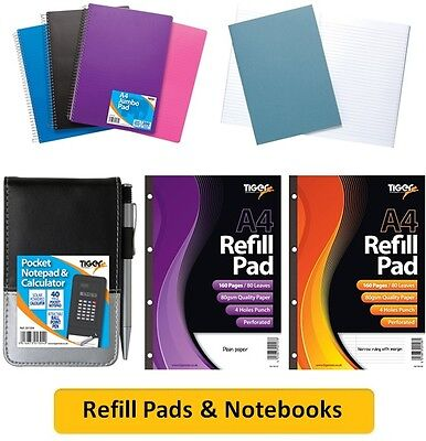 REFILL PADS & NOTEBOOKS - Organiser Subject Notes Writing Notebook Colour{Tiger}