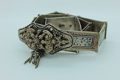 Antique Original Perfect Islamic Ottoman Niello Armenian  Amazing Belt