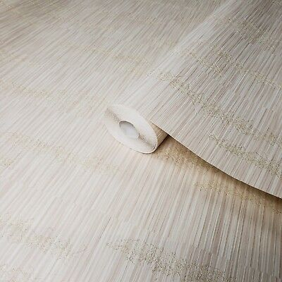 3D Wallpaper roll textured Non-Woven wallcovering grasscloth pattern faux Bamboo