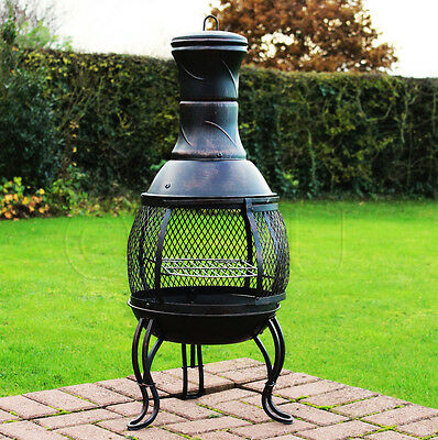 Chim1 Outdoor Garden Steel Chimenea Chiminea Patio Heater Fire Pit Bbq Burner