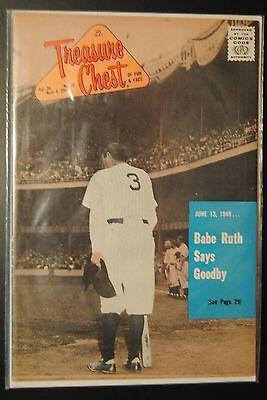 1965 Treasure Chest Comics-New York Yankees Babe Ruth