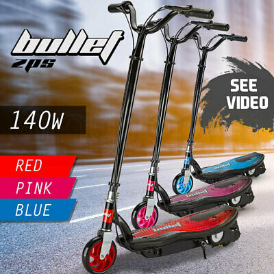 BULLET ZPS Kids Electric Scooter 140W Children Toy Battery Blue Pink Bike Ride