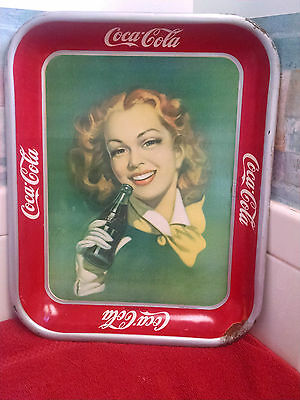 Coca Cola Tray MEXICAN Red Hair Girl c.1950 Original - Hard To Find!