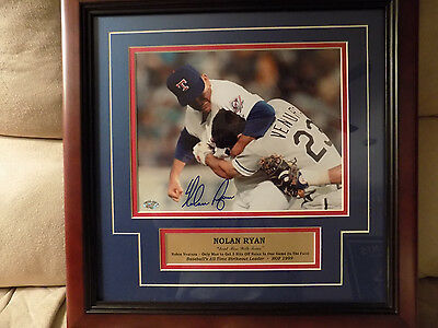 "NOLAN RYAN SIGNED AND FRAMED ""DON'T MESS WITH TEXAS"" RYAN v. VENTURA"