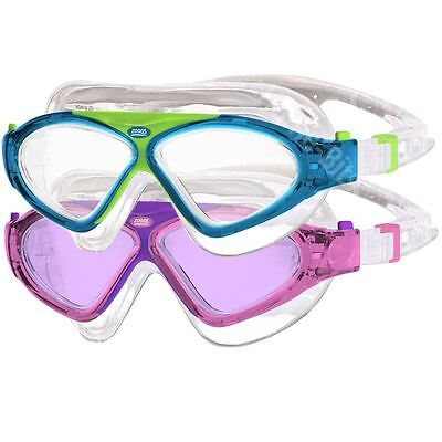 Zoggs Tri-Vision Junior Mask Childs Swimming Goggle Eye Protection 6-14 Years