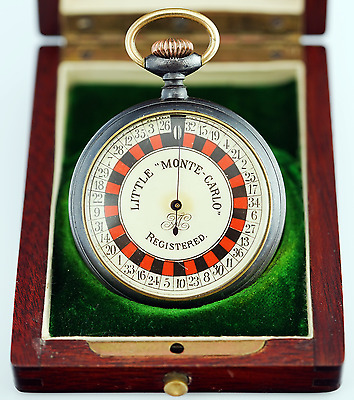Little Monte-Carlo Roulette Pocket Watch Game / Device Casino Gambling