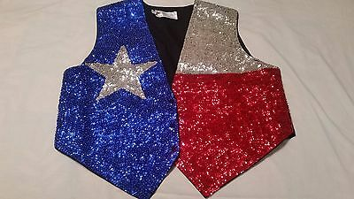 JC Sequin Vest - Texas Flag - Patriotic - New in Package - NIP