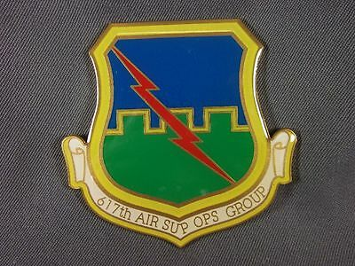 Plakette 617th Air Sup Ops Group in 85mm, Metall bunt