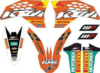 kit adhesivospara ktm 2008, 2009, 2010, 2011 exc sx, sticker graphics