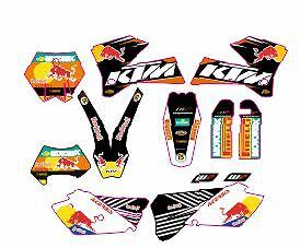 kit adhesivos ktm 2005, 2006, 2007, exc sx, sticker graphics