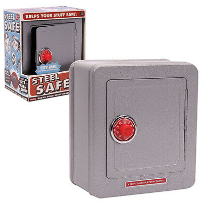 Steel Safe with Alarm Tin Toy NEW Schylling NEW CLASSIC