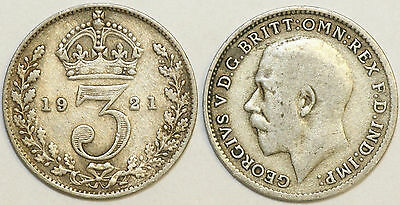 1920 to 1926 George V Silver Threepence First Design Your Choice of Date