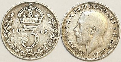 1911 to 19 George V Sterling Silver Threepence First Design Your Choice of Date